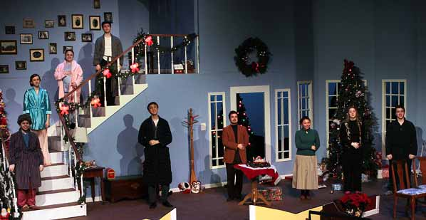 Actors outshine brightest decorations in seasons greetings east the cast of seasons greetings takes accepts the adulation of the audience m4hsunfo