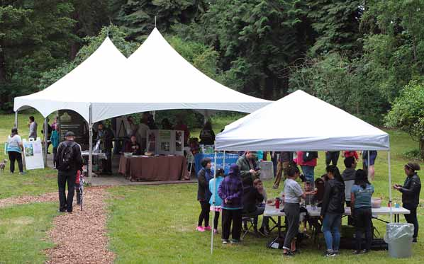 Large tents set up in the Leach Botanical Garden Upper Garden provide dry space for families to enjoy their annual Kids Nature Fair. & Spirits bright at misty u0027Kids Fairu0027 | East PDX News